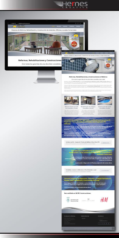 Página Web diseñada y creada para Empresa con Posicionamiento SEO Web
